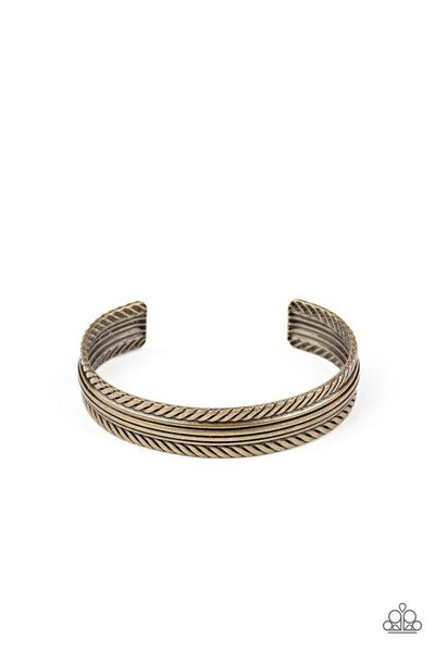 Paparazzi Bracelet PREORDER ~ METALHEAD Over Heels - Brass