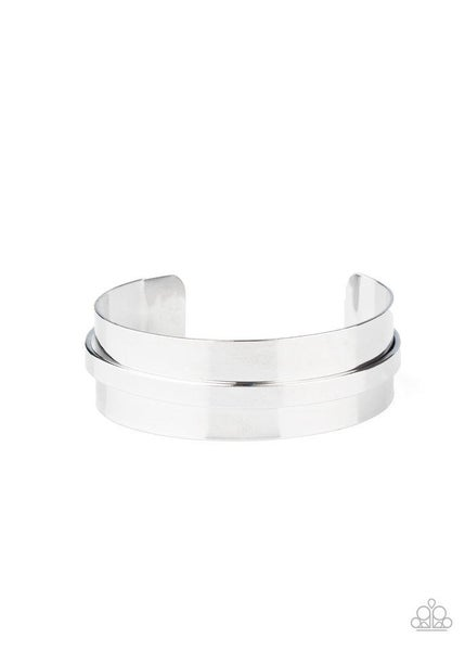 Paparazzi Bracelet ~ A HAUTE Number - Silver