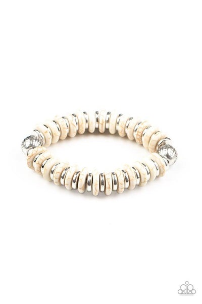 Paparazzi Bracelet ~ Eco Experience - White