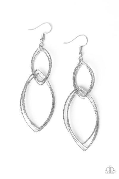Paparazzi Earring ~ Endless Echo - Silver
