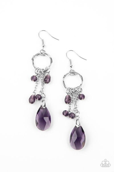 Paparazzi Earring ~ Glammed Up Goddess - Purple