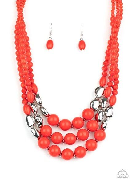 Paparazzi Necklace ~ Flamingo Flamboyance - Red