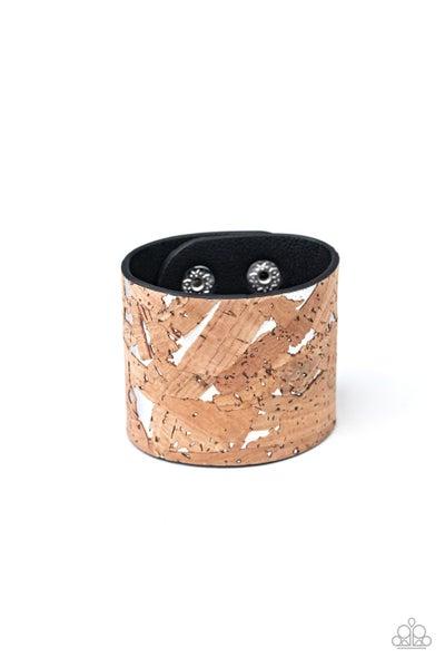 Paparazzi Bracelet ~ Cork Congo - Silver