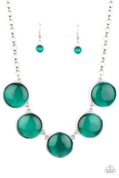 Paparazzi Necklace ~ Ethereal Escape - Green