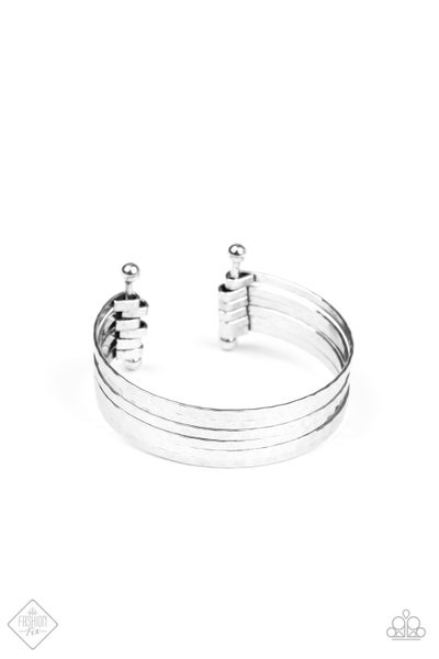 Paparazzi Bracelet Fashion Fix Aug2020 ~ BAUBLE-Headed - Silver