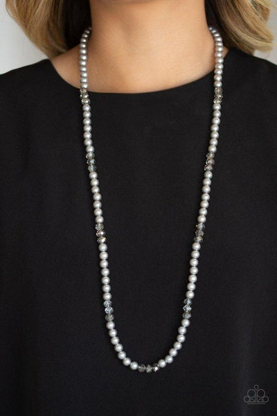 Paparazzi Necklace ~ Girls Have More FUNDS - Silver