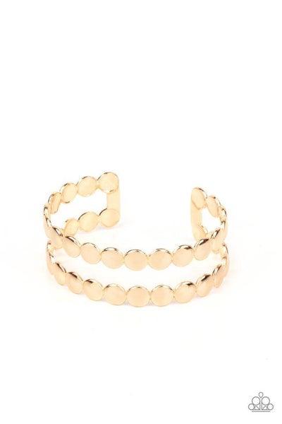 Paparazzi Bracelet ~ On The Spot Shimmer - Gold