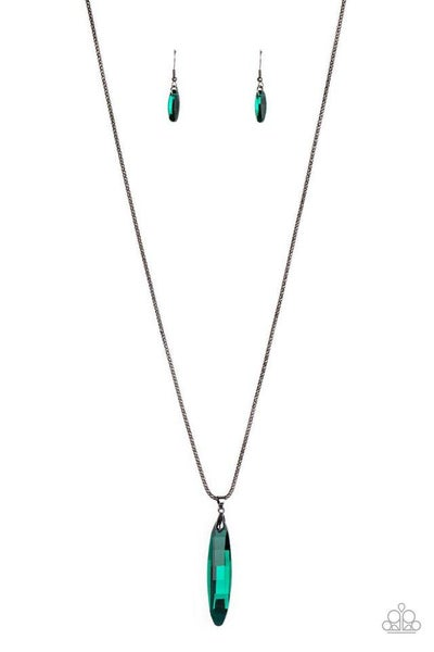 Paparazzi Necklace ~ Meteor Shower - Green