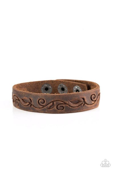 Paparazzi Bracelet ~ Fearless Forager - Brown