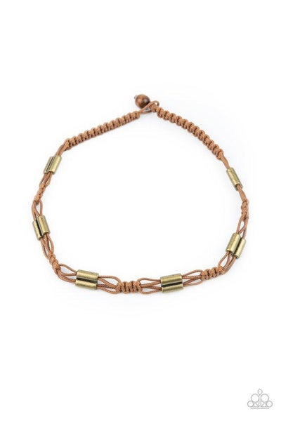 Paparazzi Necklace ~ Offshore Drifter - Brown