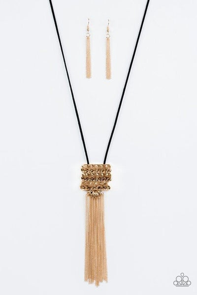 Paparazzi Necklace - All About ALTITUDE - Gold