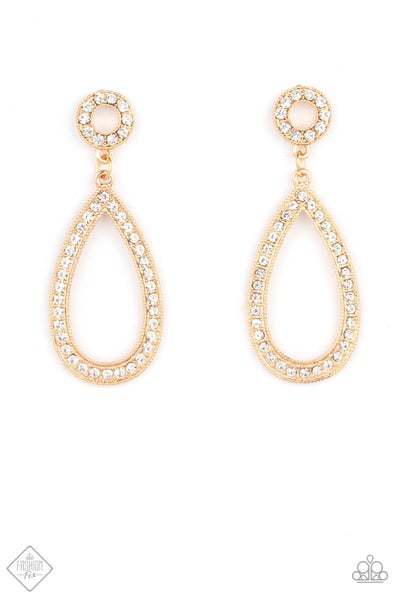 Paparazzi Earring Fashion Fix April 2021 ~ Regal Revival - Gold