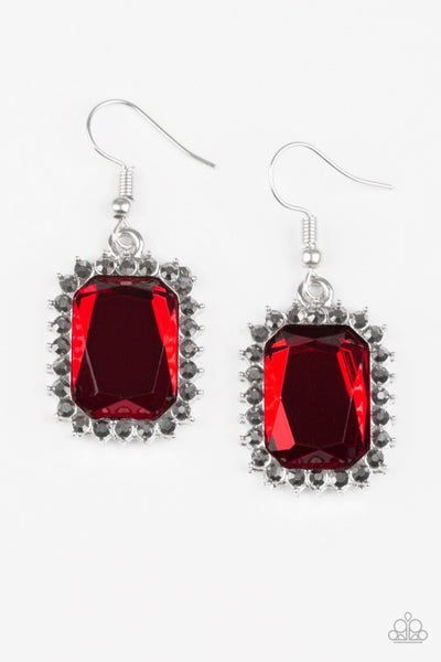 Paparazzi Earring ~ Downtown Dapper - Red