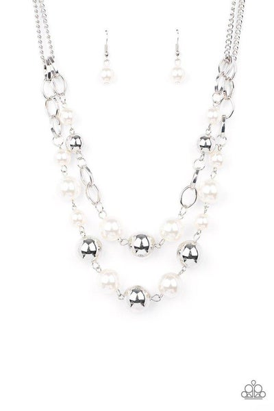 Paparazzi Necklace ~ COUNTESS Your Blessings - White