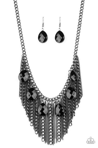 Paparazzi Necklace ~ Vixen Conviction - Black