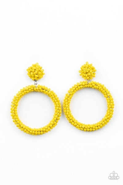 Paparazzi Earring PREORDER  ~ Be All You Can BEAD - Yellow