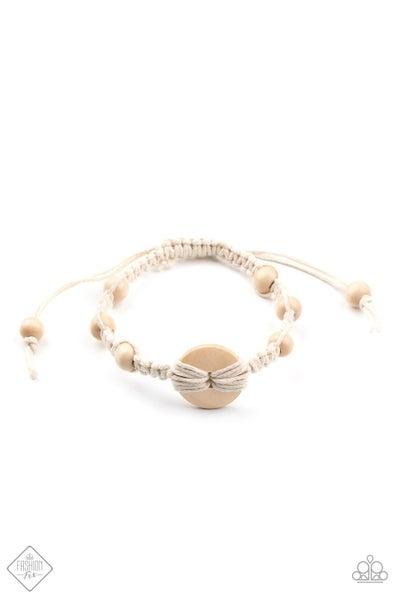 Paparazzi Bracelet ~ The Road KNOT Taken - Fashion Fix Nov 2020 - White