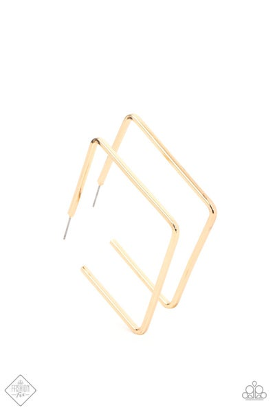 Paparazzi Earring Fashion Fix April 2021 ~ Material Girl Magic - Gold