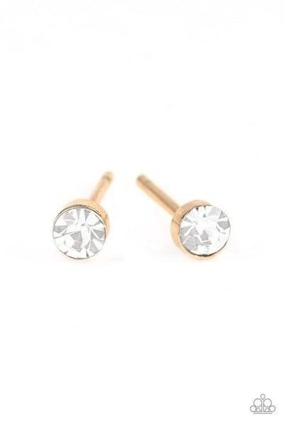 Paparazzi Earring ~ Dainty Decor - Gold