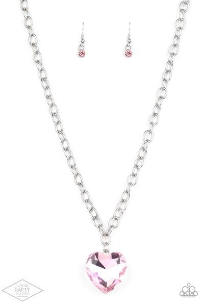 Paparazzi Necklace ~ Flirtatiously Flashy - Pink