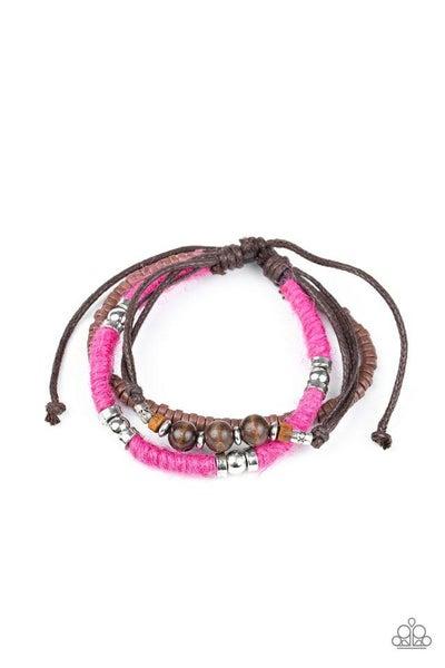 Paparazzi Bracelet ~ Totally Tiki - Pink