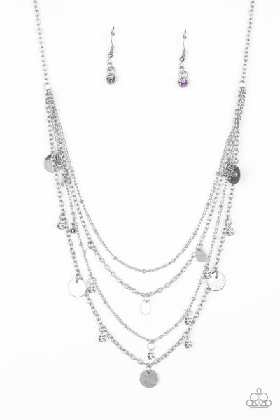 Paparazzi Necklace ~ Classic Class Act - Purple
