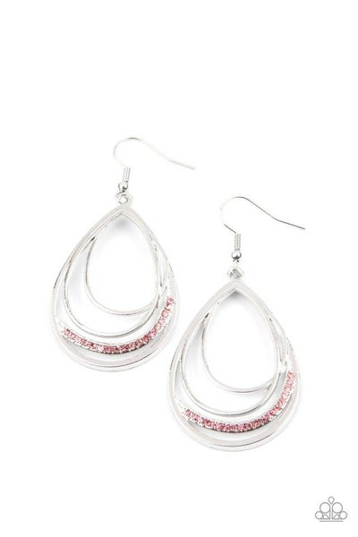 Paparazzi Earring ~ Outrageously Opulent - Pink