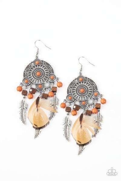 Paparazzi Earring ~ Desert Plains - Orange