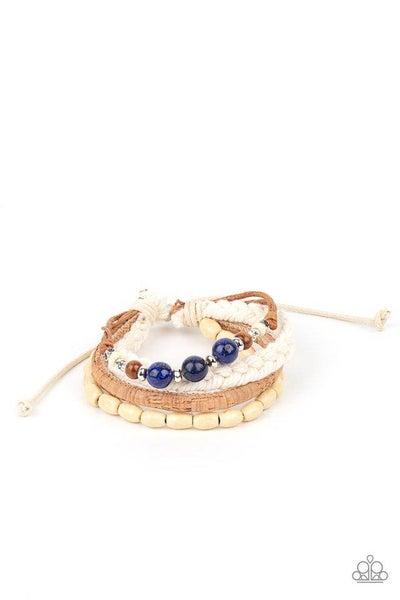 Paparazzi Bracelet ~ Natural-Born Navigator - Blue