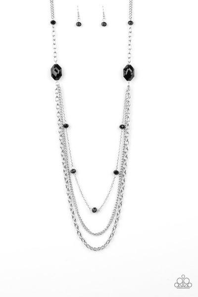 Paparazzi Necklace ~ Dare To Dazzle - Black