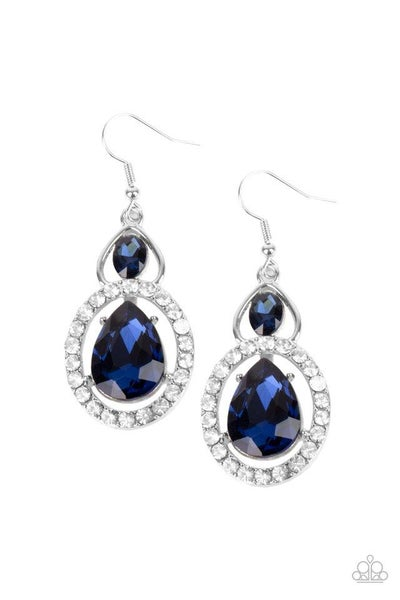 Paparazzi Earring ~ Double The Drama - Blue