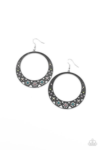 Paparazzi Earring PREORDER ~ Bodaciously Blooming - Multi