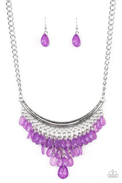 Paparazzi Necklace ~ Rio Rainfall - Purple