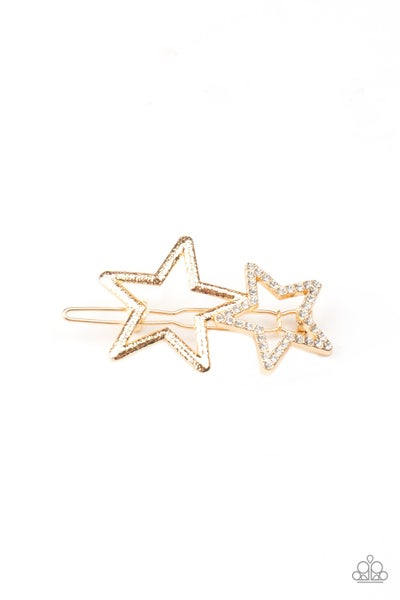 Paparazzi Hair Accessories ~ Lets Get This Party STAR-ted! - Gold