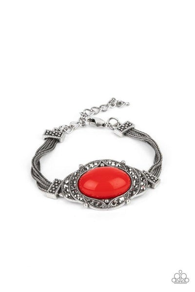 Paparazzi Bracelet ~ Top-Notch Drama - Red