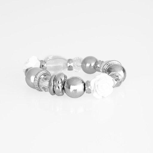 Paparazzi Bracelet ~ Here I Am - Silver