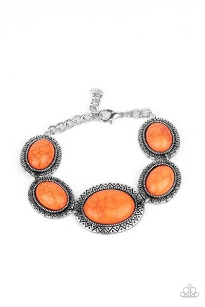 Paparazzi Bracelet ~ MESA Time Zone - Orange