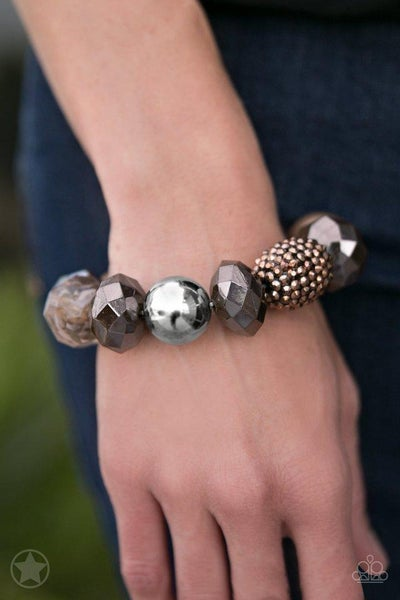 Paparazzi Bracelet Blockbuster - All Cozied Up - Brown