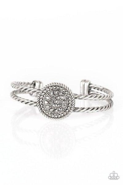 Paparazzi Bracelet ~ Definitely Dazzling - Silver