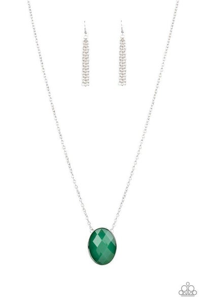 Paparazzi Necklace ~ Intensely Illuminated - Green
