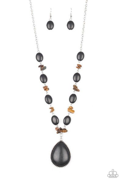 Paparazzi Necklace ~ Desert Diva - Black