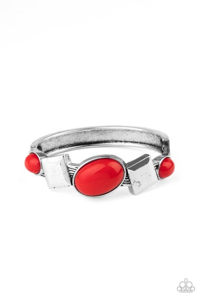 Paparazzi Bracelet ~ Abstract Appeal - Red