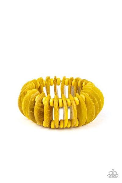 Paparazzi Bracelet ~ Tropical Tiki Bar - Yellow