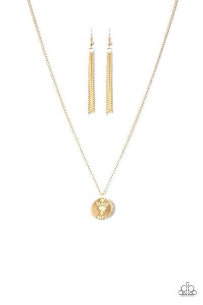Paparazzi Necklace ~ Palm Tree Paradise - Gold