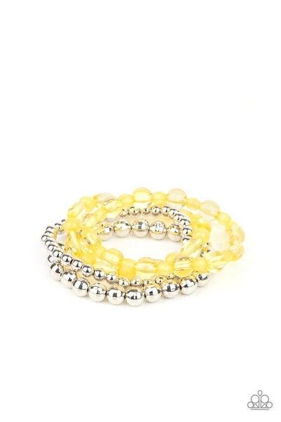 Paparazzi Bracelet ~ Delightfully Disco - Yellow