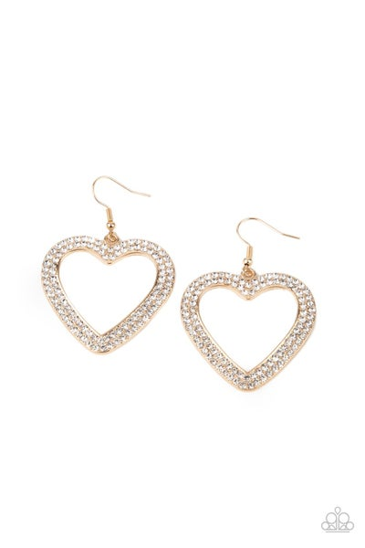 Paparazzi Earring ~ GLISTEN To Your Heart - Gold