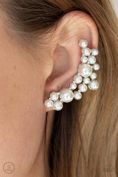 Paparazzi Earring ~ Metro Makeover - White