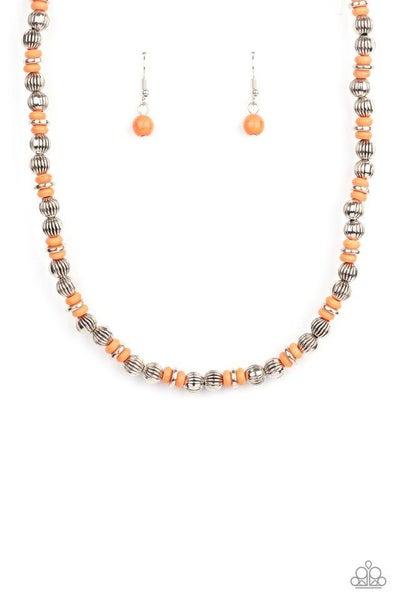 Paparazzi Necklace PREORDER ~ ZEN You Least Expect It - Orange
