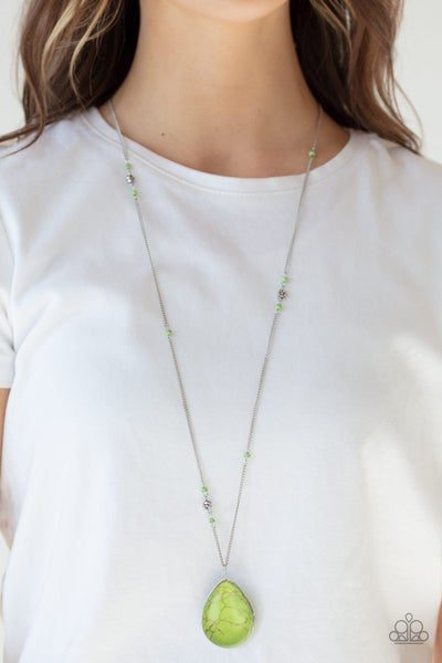 Paparazzi Necklace ~ Desert Meadow - Green