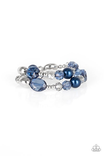 Paparazzi Bracelet ~ Downtown Dazzle - Blue